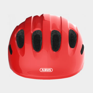 Cykelhjälm ABUS Smiley 2.0 Sparkling Red, grönt spänne, Small (45 - 50 cm)
