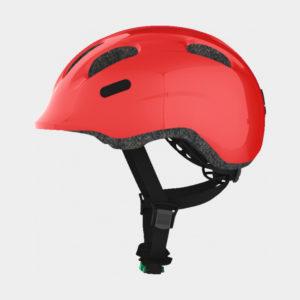 Cykelhjälm ABUS Smiley 2.0 Sparkling Red, grönt spänne, Medium (50 - 55 cm)