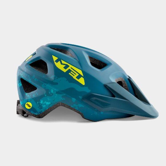Cykelhjälm MET Eldar MIPS Petrol Blue Camo, Universal (52 - 57 cm)