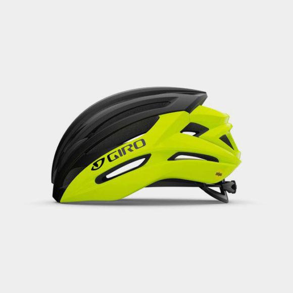 Cykelhjälm Giro Syntax MIPS Highlight Yellow Black, Large (59 - 63 cm)