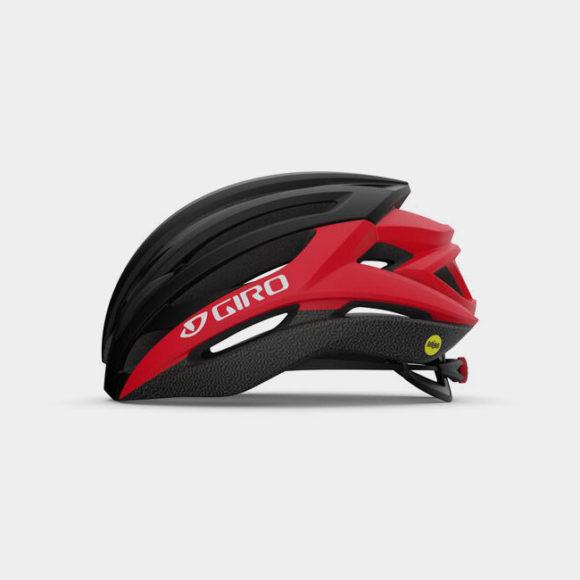 Cykelhjälm Giro Syntax MIPS Matte Black Bright Red, Large (59 - 63 cm)