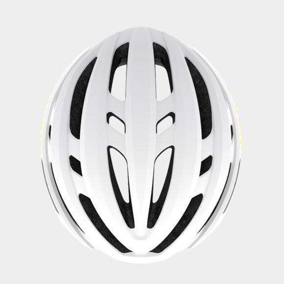 Cykelhjälm Giro Agilis MIPS W Matte White Citron, Medium (55 - 59 cm)