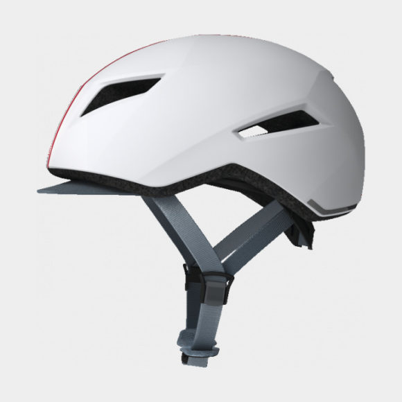 Cykelhjälm ABUS Yadd-I Streak White, Medium (55 - 59 cm)
