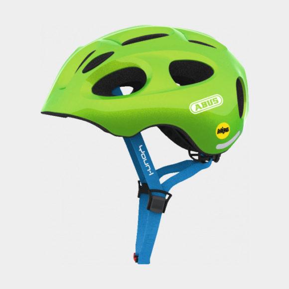 Cykelhjälm ABUS Youn-I MIPS Sparkling Green, Medium (52 - 57 cm)