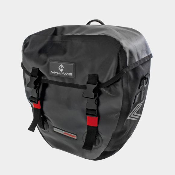 Pakethållarväskor M-Wave Alberta Pannier, 2 x 20 liter, svart