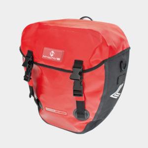 Pakethållarväskor M-Wave Alberta Pannier, 2 x 16 liter, svart/röd