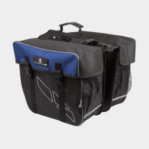 Pakethållarväskor M-Wave Amsterdam Double, 2 x 15 liter, svart/blå