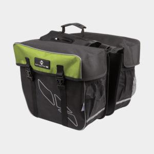 Pakethållarväskor M-Wave Amsterdam Double, 2 x 15 liter, svart/grön