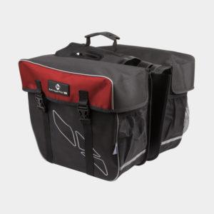 Pakethållarväskor M-Wave Amsterdam Double, 2 x 15 liter, svart/röd