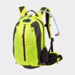 Cykelryggsäck M-Wave Rough Ride Back, 10 liter, neongul, inkl. vätskebehållare (2 liter)