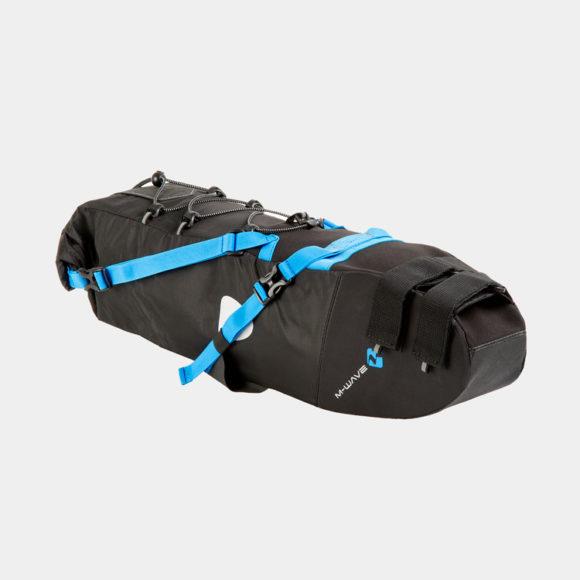 Sadelväska M-Wave Rough Ride Saddle L, 11 liter, svart