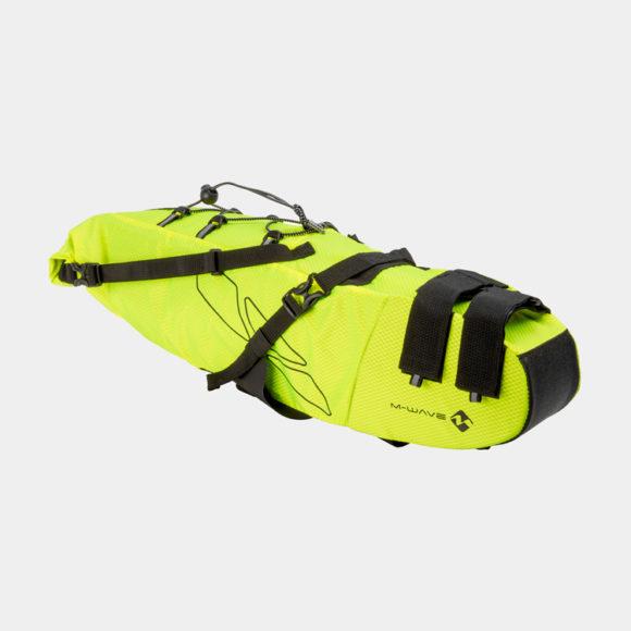Sadelväska M-Wave Rough Ride Saddle L, 11 liter, neongul