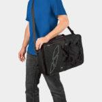 Pakethållarväskor M-Wave Amsterdam Triple Traveller, kan även användas som ryggsäck eller axelremsväska, 2 x 17 liter + 28 liter
