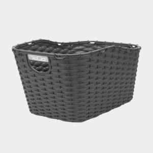 Cykelkorg XLC BA-B07, plast, på pakethållaren, grå