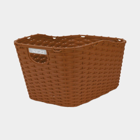 Cykelkorg XLC BA-B07, plast, på pakethållaren, brun