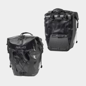 Pakethållarväskor XLC BA-W38, svart, 2 x 18 liter
