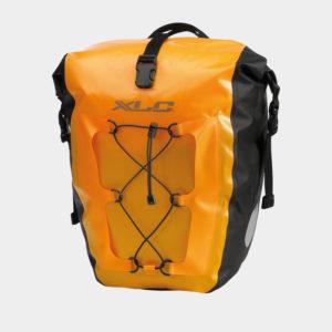 Pakethållarväskor XLC BA-W38, orange, 2 x 20 liter