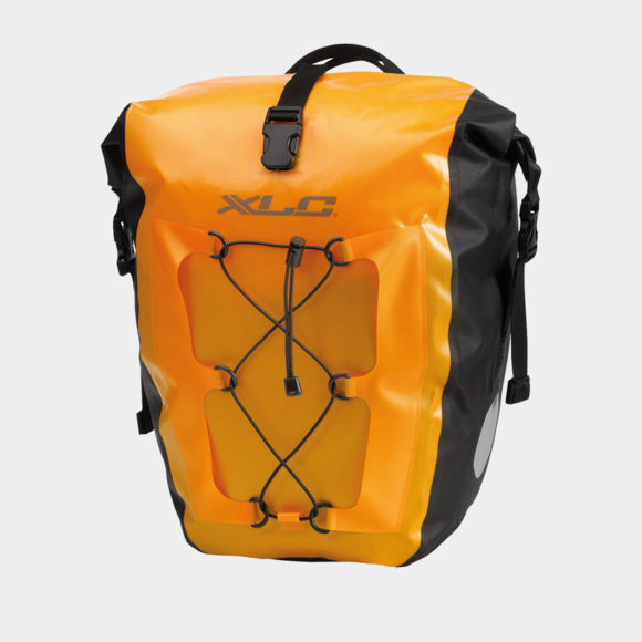 Pakethållarväskor XLC BA-W38, gul, 2 x 18 liter