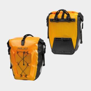 Pakethållarväskor XLC BA-W38, gul, 2 x 20 liter