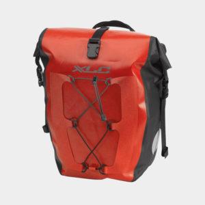 Pakethållarväskor XLC BA-W38, röd, 2 x 20 liter