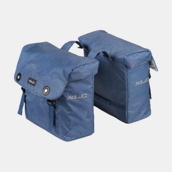 Pakethållarväskor XLC BA-S88, blå, 2 x 18 liter