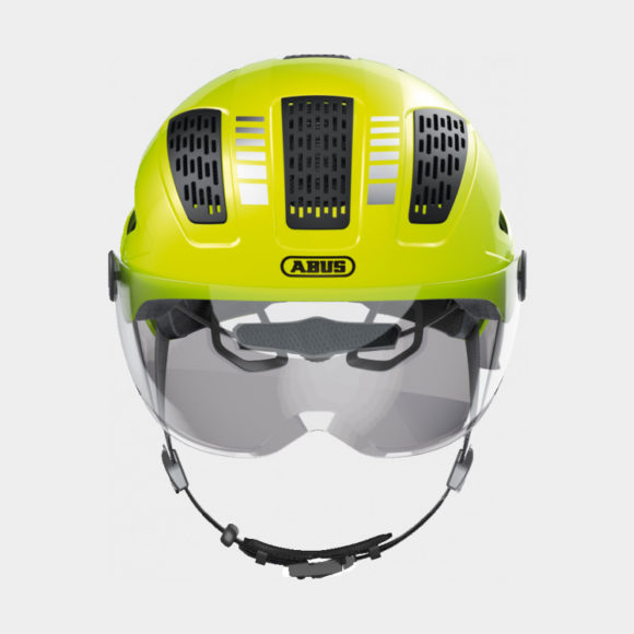 Cykelhjälm ABUS Hyban 2.0 ACE Signal Yellow, Large (56 - 61 cm)