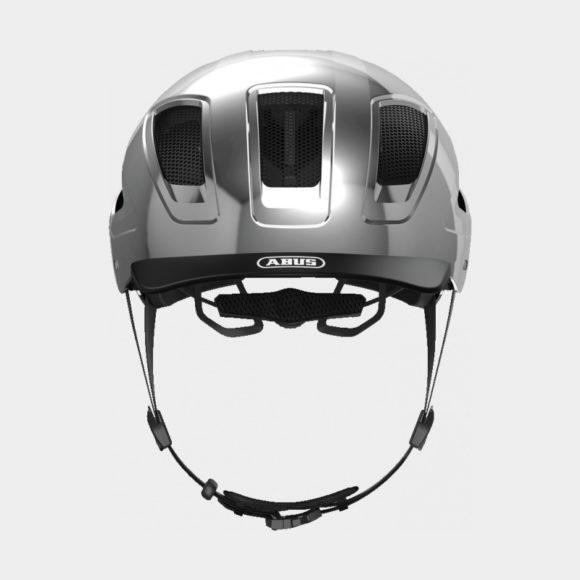 Cykelhjälm ABUS Hyban 2.0 Chrome Silver, Medium (52 - 58 cm)