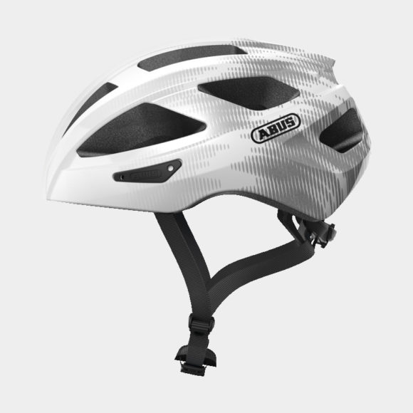 Cykelhjälm ABUS Macator White Silver, Large (58 - 62 cm)