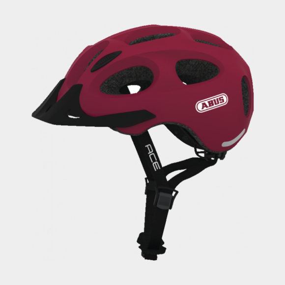 Cykelhjälm ABUS Youn-I ACE Cherry Red, Medium (52 - 57 cm)