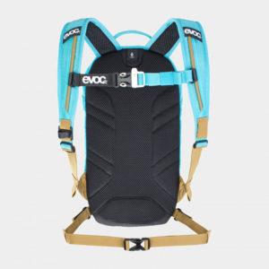 Cykelryggsäck för barn EVOC Joyride Neon Blue/Gold, förberedd för vätskebehållare, 4 liter