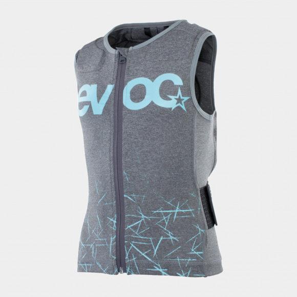 Ryggskydd för barn EVOC Protector Vest Kids & Junior Carbon Grey, Medium