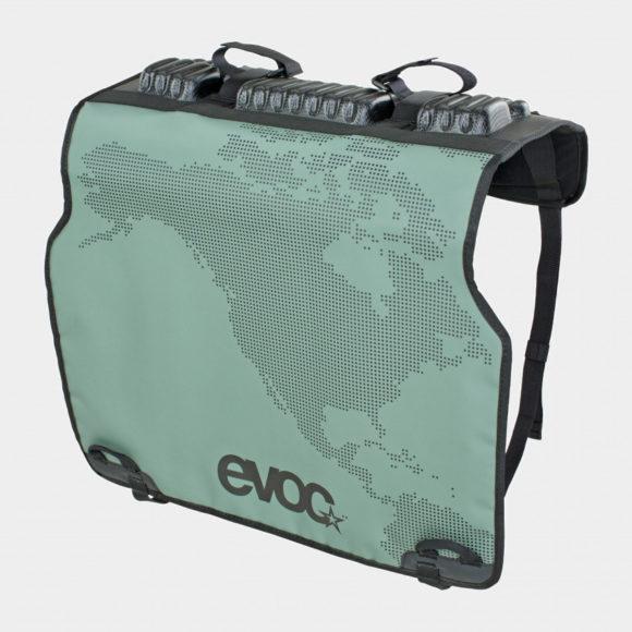 Pickupskydd EVOC Tailgate Pad Duo Olive, för två cyklar