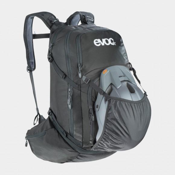 Cykelryggsäck EVOC Explorer Pro, förberedd för vätskebehållare, 30 liter, svart
