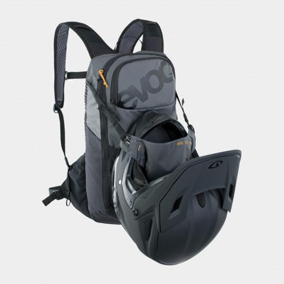 Cykelryggsäck EVOC Ride Carbon Grey/Black, 12 liter + vätskebehållare (2 liter)