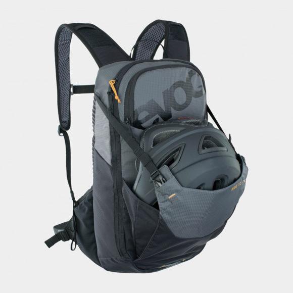 Cykelryggsäck EVOC Ride Carbon Grey/Black, förberedd för vätskebehållare, 12 liter