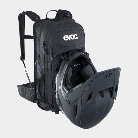 Cykelryggsäck EVOC Stage, förberedd för vätskebehållare, 18 liter