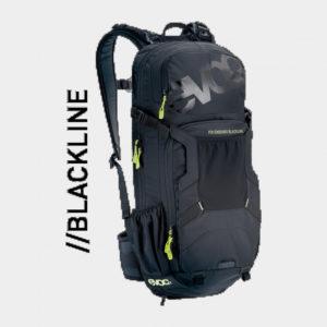 Cykelryggsäck med ryggskydd EVOC FR Lite Race Carbon Grey/Black, förberedd för vätskebehållare, 10 liter, Small