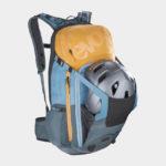 Cykelryggsäck med ryggskydd EVOC FR Trail Multicolour, förberedd för vätskebehållare, 20 liter, Medium/Large