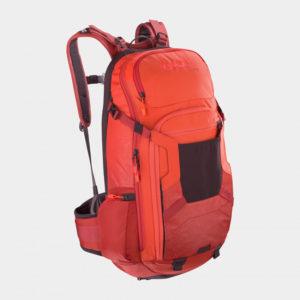 Cykelryggsäck med ryggskydd EVOC FR Trail Orange/Chili Red, förberedd för vätskebehållare, 20 liter, Medium/Large