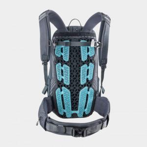 Cykelryggsäck med ryggskydd EVOC Neo Carbon Grey, förberedd för vätskebehållare, 16 liter, Large/X-Large