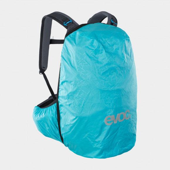 Cykelryggsäck med ryggskydd EVOC Trail Pro Black/Carbon Grey, förberedd för vätskebehållare, 26 liter, Large/X-Large