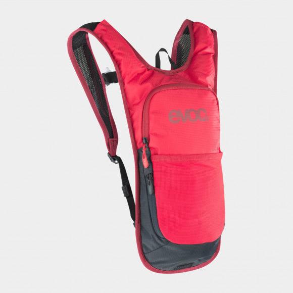 Vätskeryggsäck för cykel EVOC CC 2, röd, 2 liter + vätskebehållare (2 liter)