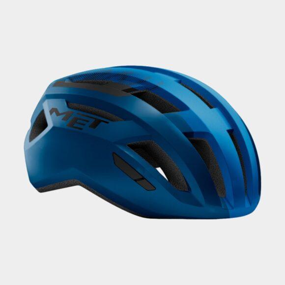 Cykelhjälm MET Allroad Blue Black/Matt, Small (52 - 56 cm)