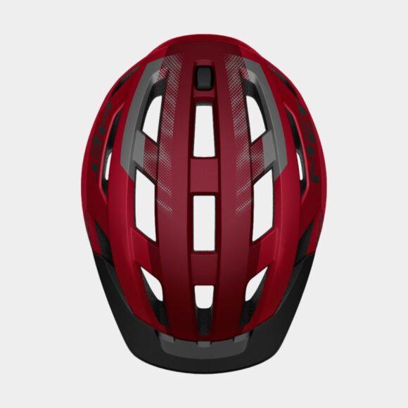 Cykelhjälm MET Allroad Red Black/Matt, Small (52 - 56 cm)