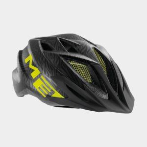 Cykelhjälm MET Crackerjack Black Texture Green/Matt, Universal (52 - 57 cm)