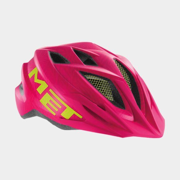 Cykelhjälm MET Crackerjack Pink Texture Green/Matt, Universal (52 - 57 cm)