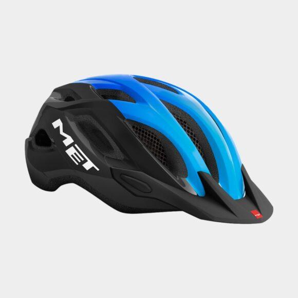 Cykelhjälm MET Crossover Black Cyan/Glossy, Medium (52 - 59 cm)