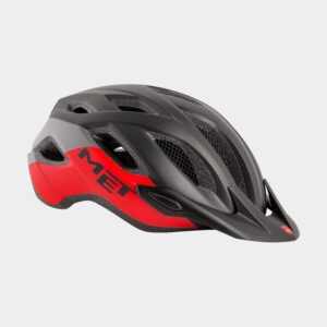 Cykelhjälm MET Crossover Black Red/Matt, X-Large (60 - 64 cm)