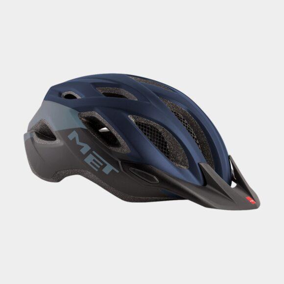 Cykelhjälm MET Crossover Blue Black/Matt, X-Large (60 - 64 cm)