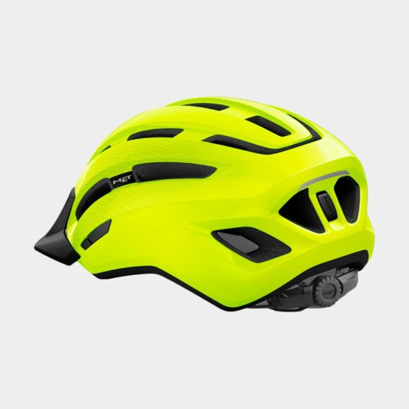 Cykelhjälm MET Downtown Safety Yellow/Glossy, Medium / Large (58 - 61 cm)